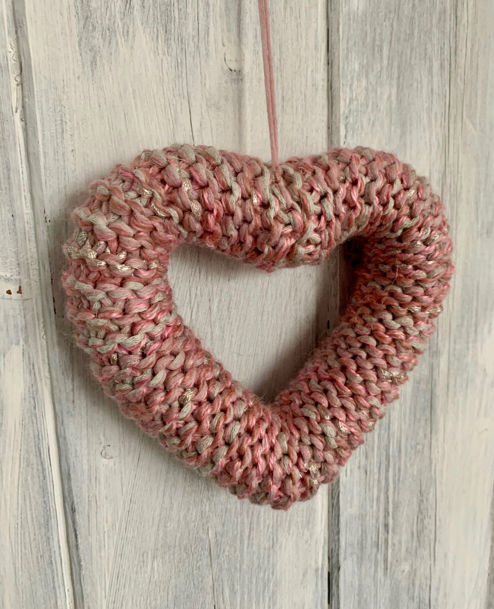 Hand Knitted Hearts Mixed Pinks Collection