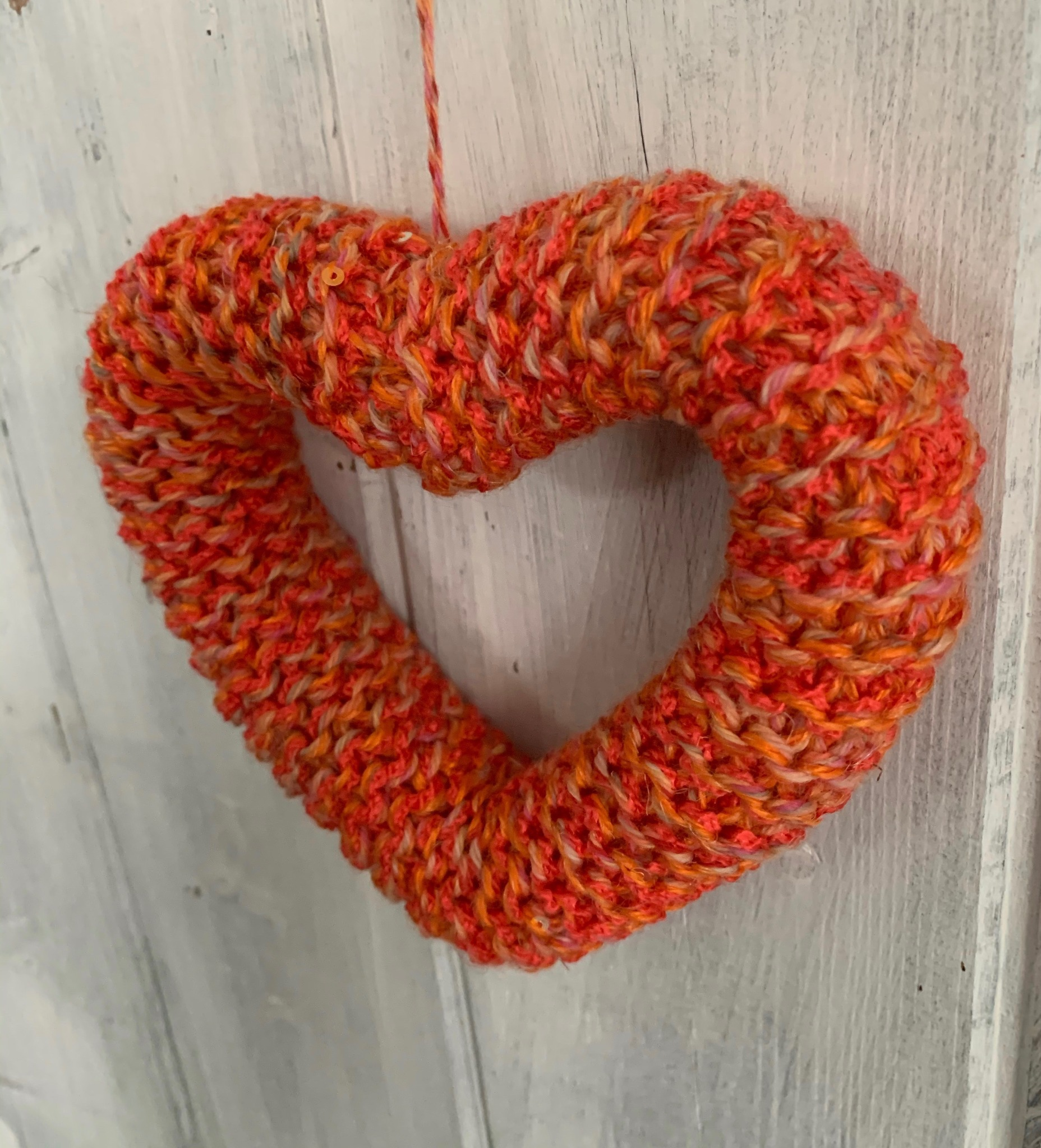 Hand Knitted Bridgerton Burn Love Heart