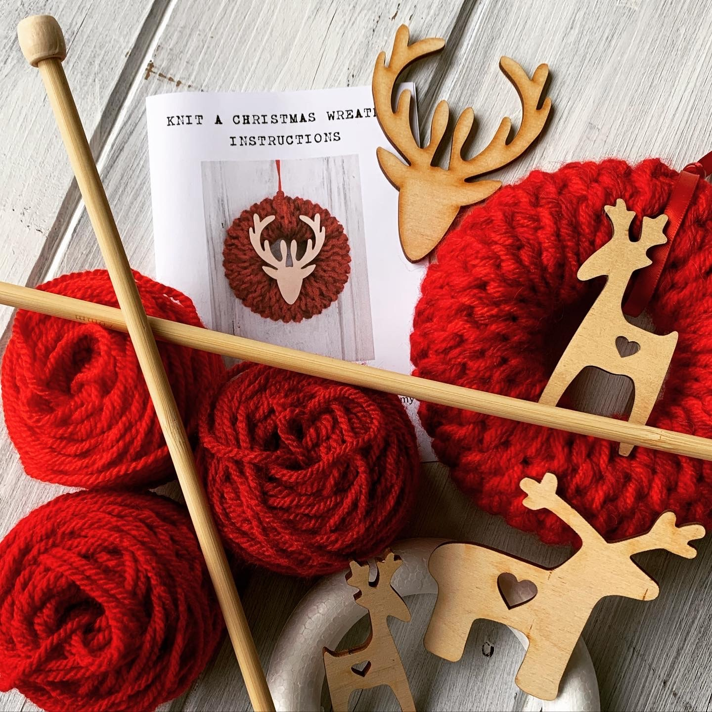 Knit Your Own Christmas Wreath Kits