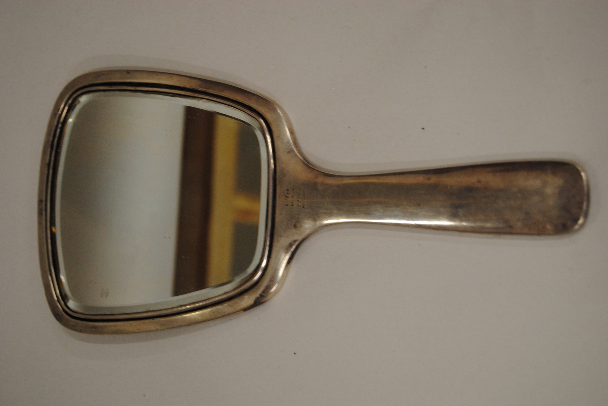 Wallace Hammered Sterling Silver Hand Mirror (B)