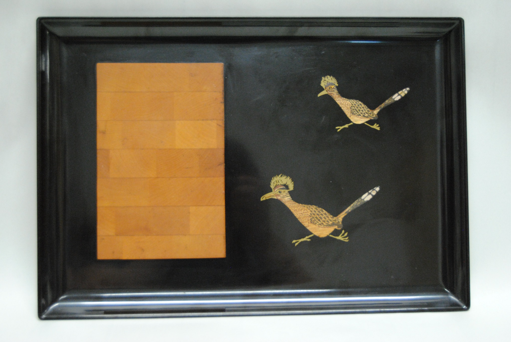 Couroc of Monterey Cheese Board Mid Century with Road Runners (E)