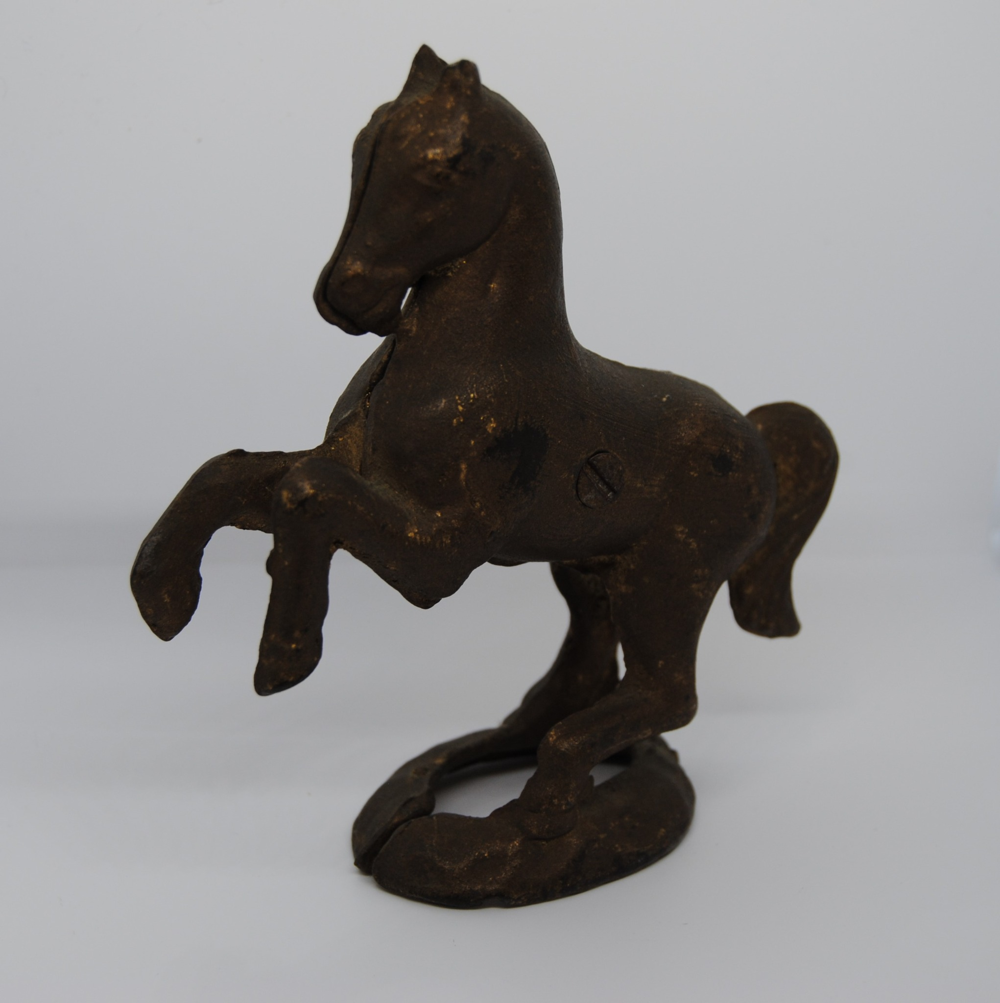 Antique Horse Cast Iron Bank with Gold Wash (E)
