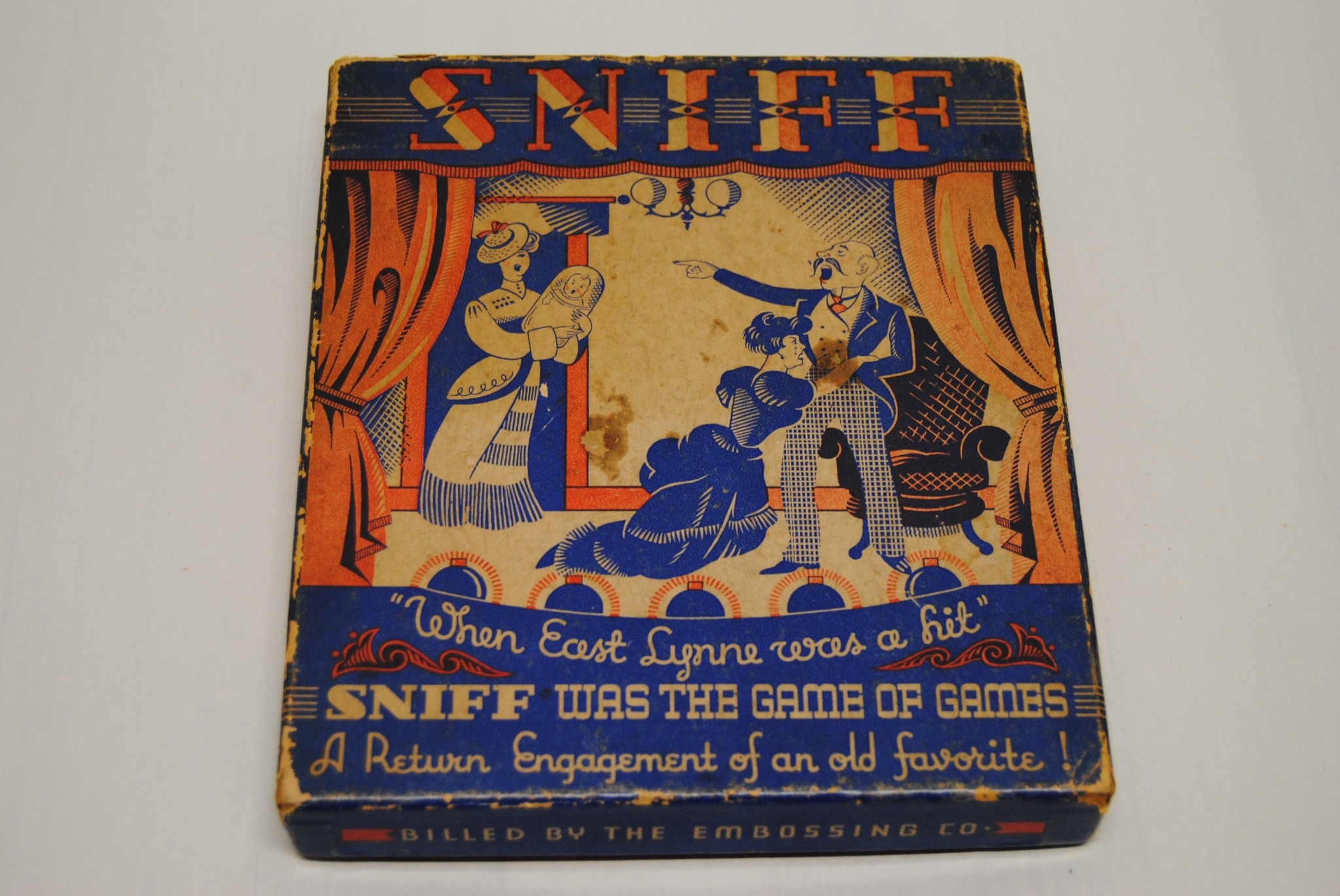 Vintage The Embossing Company Sniff Domino Game (E)