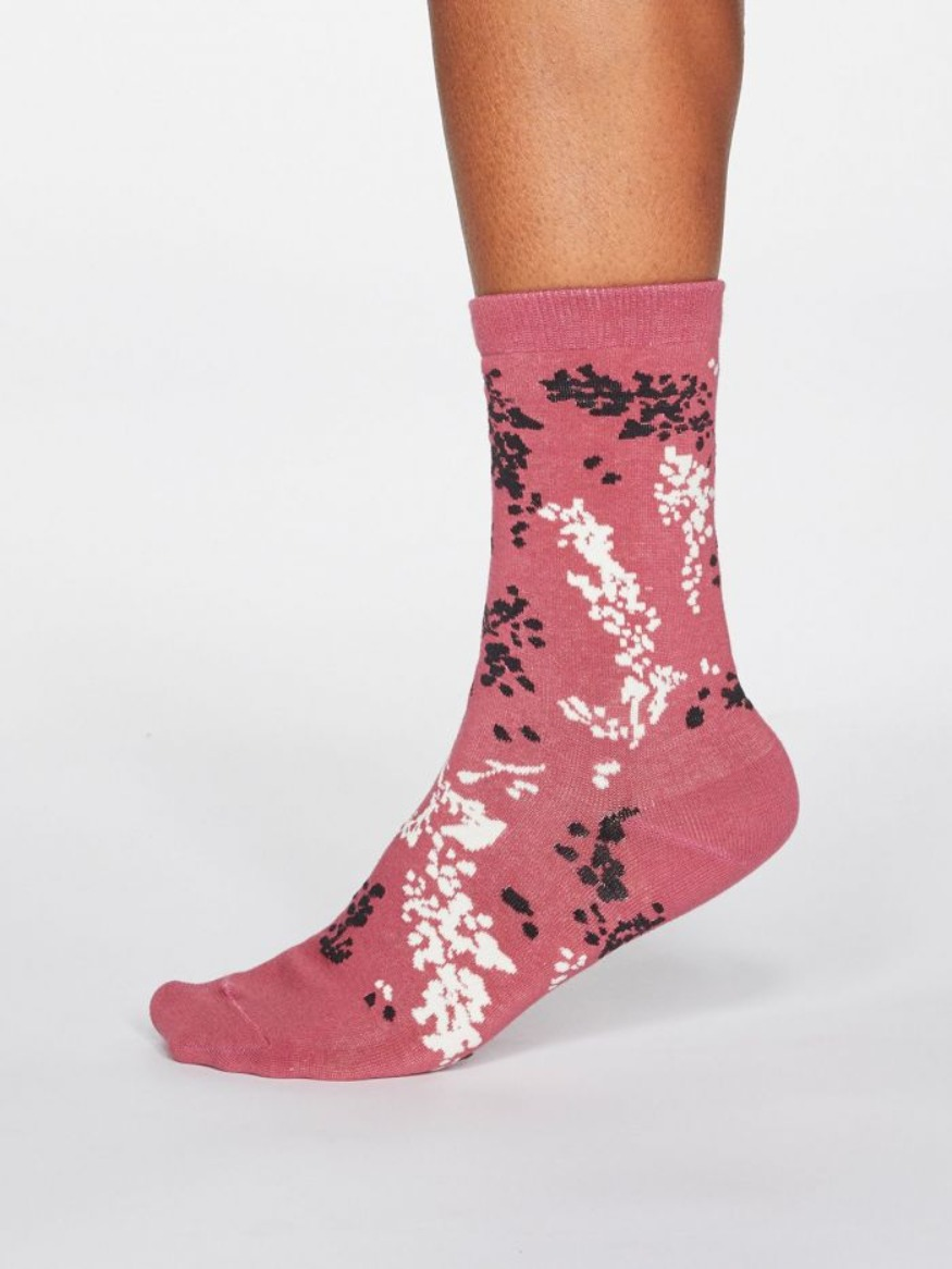 Thought organic cotton floral socks