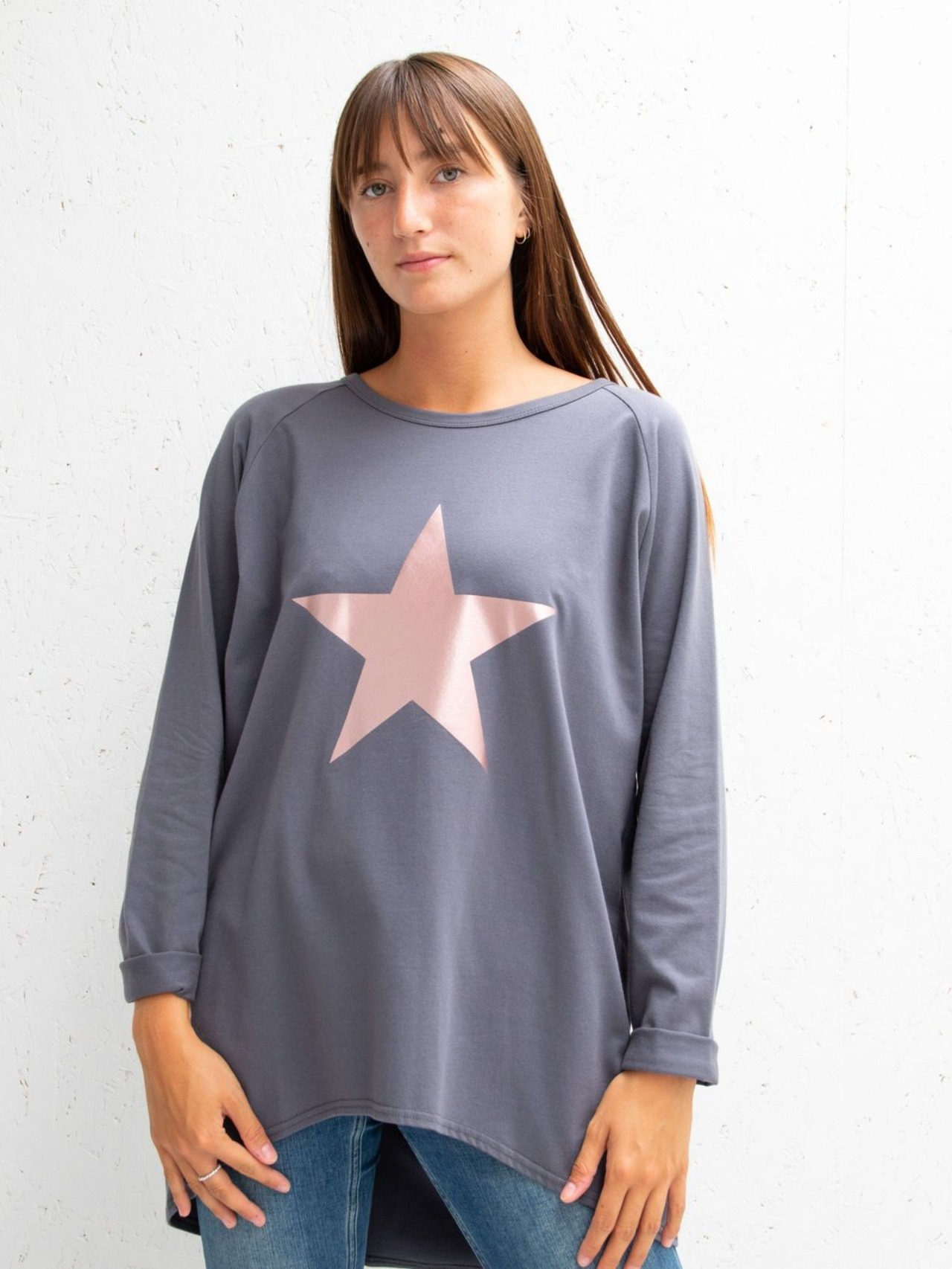 Chalk Robyn charcoal with rose gold star top