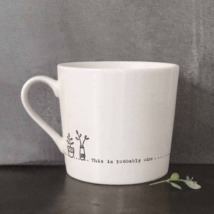 'This is probably wine' mug