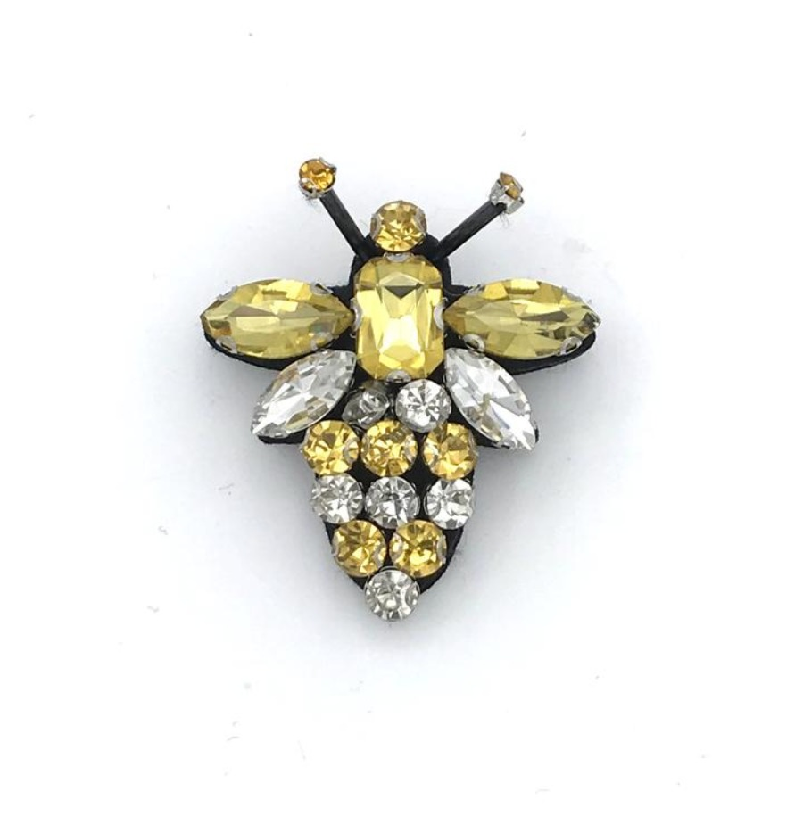 Queen Bee recycled glass brooch
