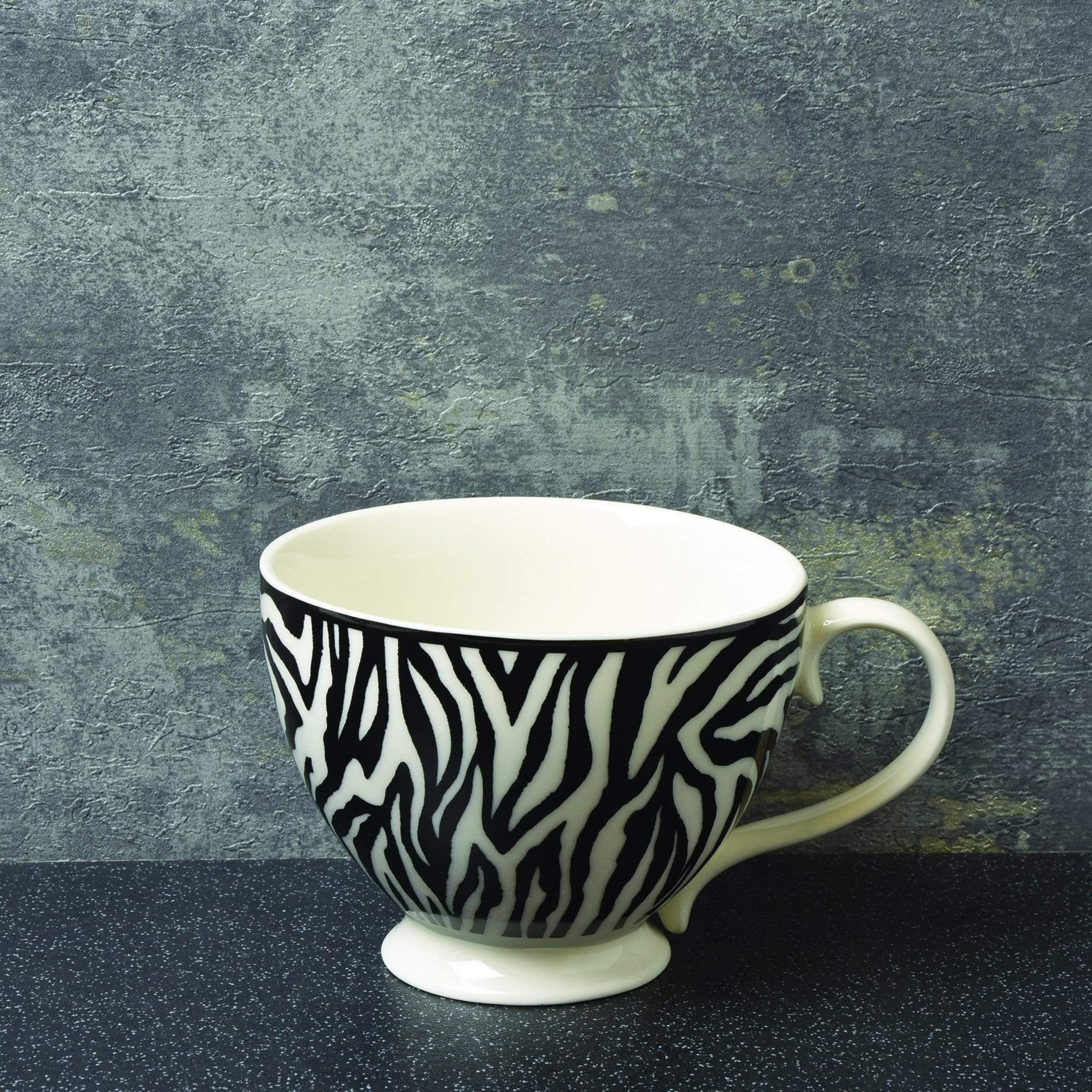 Luxe zebra print  footed mug