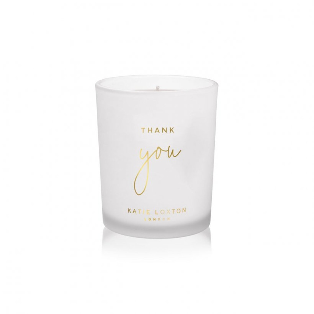Katie Loxton 'Thank you'  scented sentiment candle