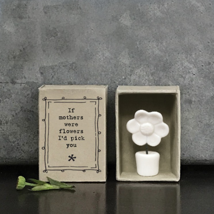 Matchbox Mothers porcelain flower gift
