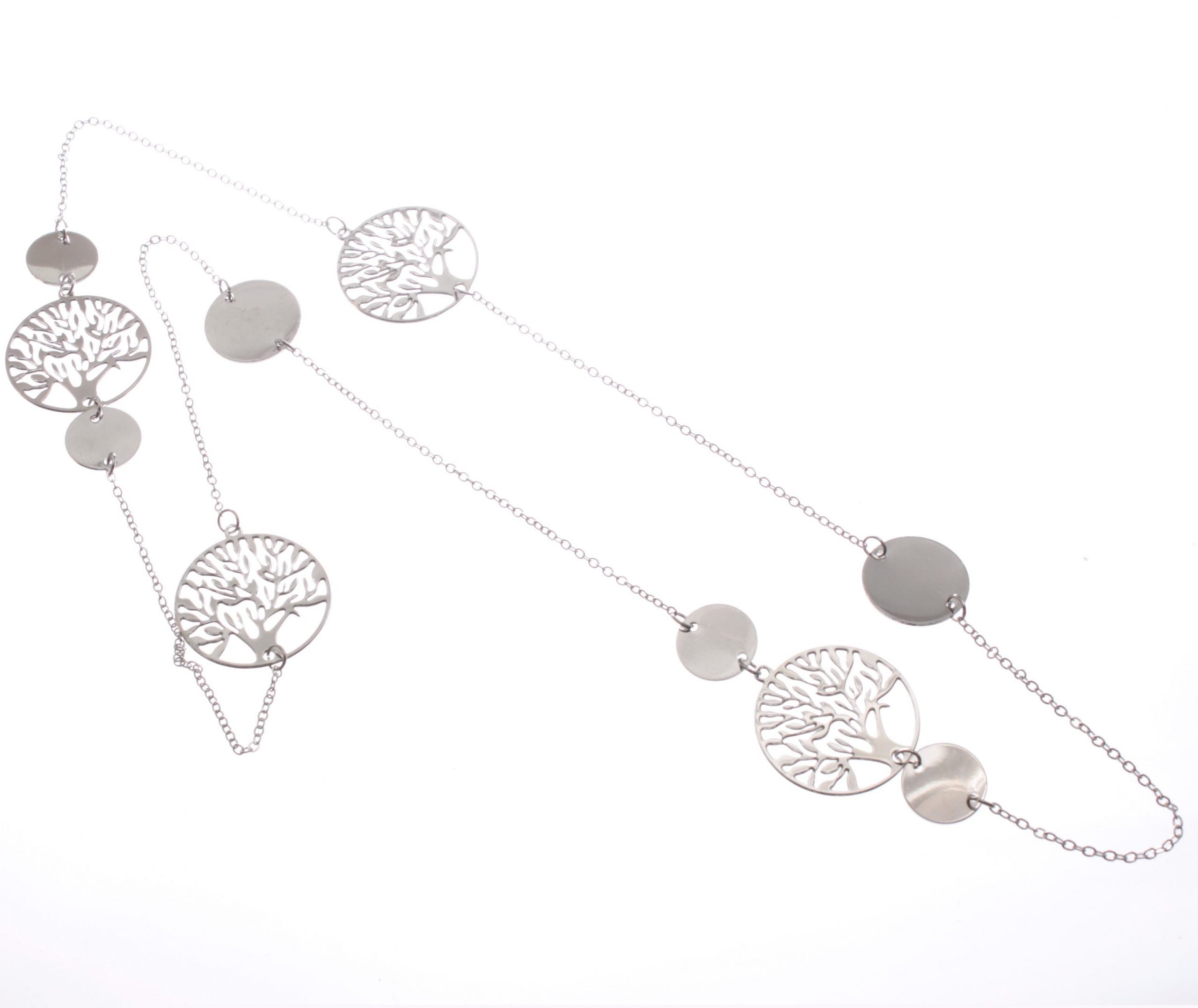 Cascading tree of life long necklace