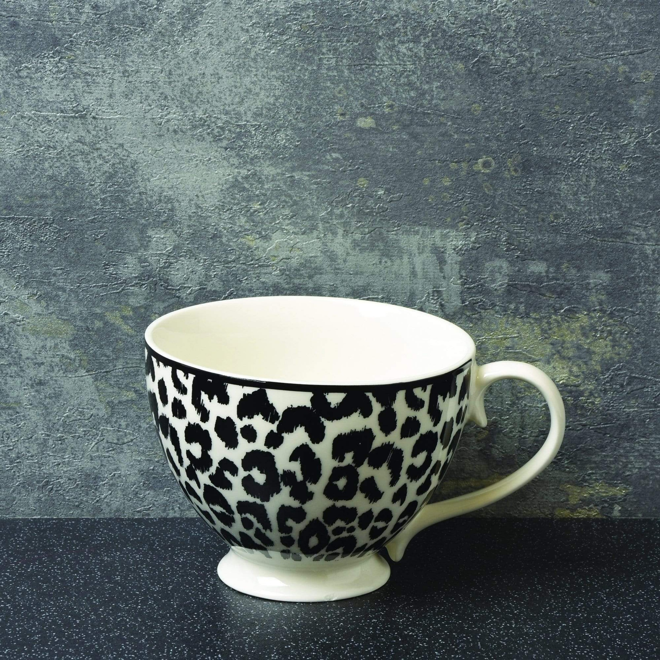 Luxe leopard print footed mug