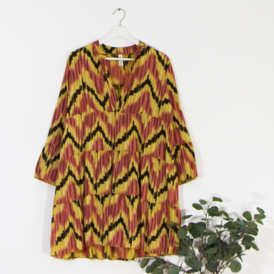 Zig zag print smock tunic/dress