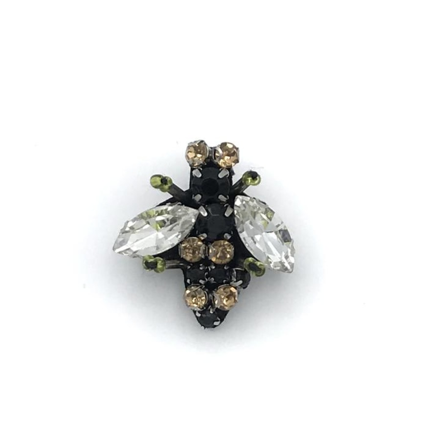 Sparkly recycled glass bee pin