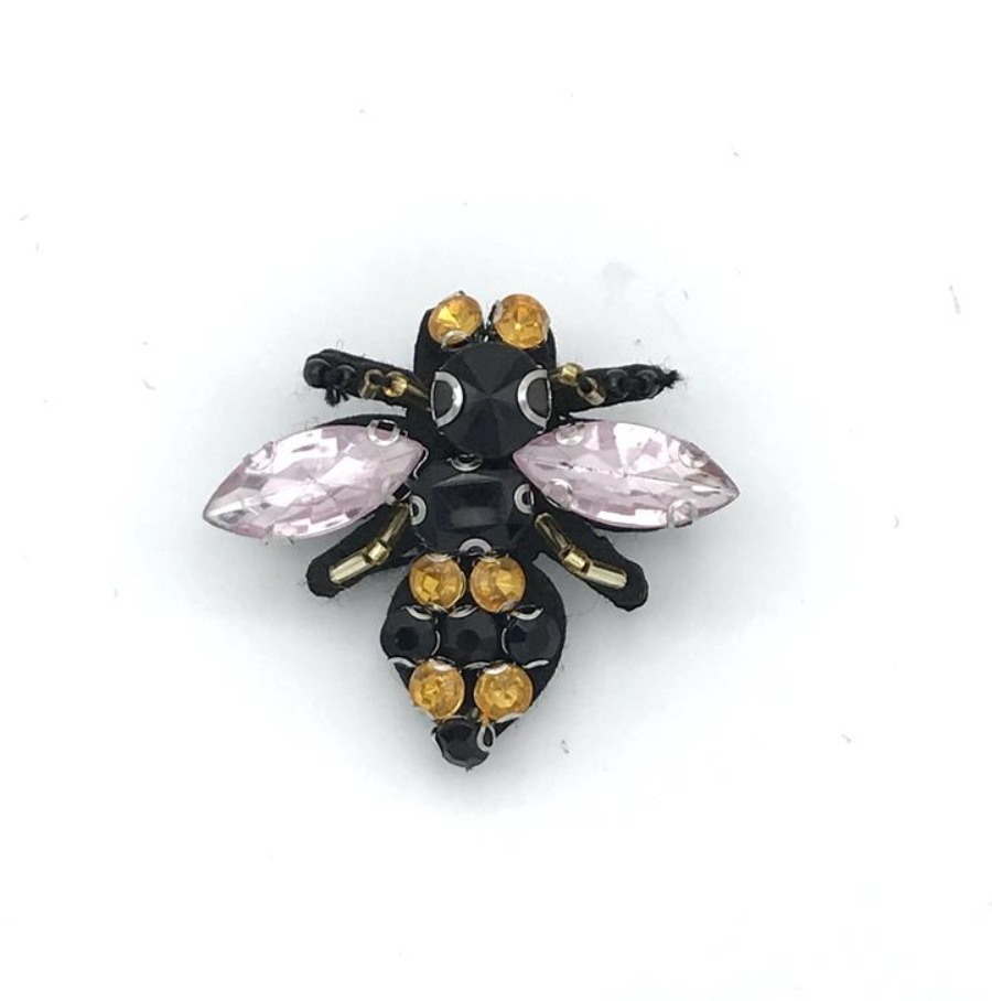 Italian Bee recycled glass brooch