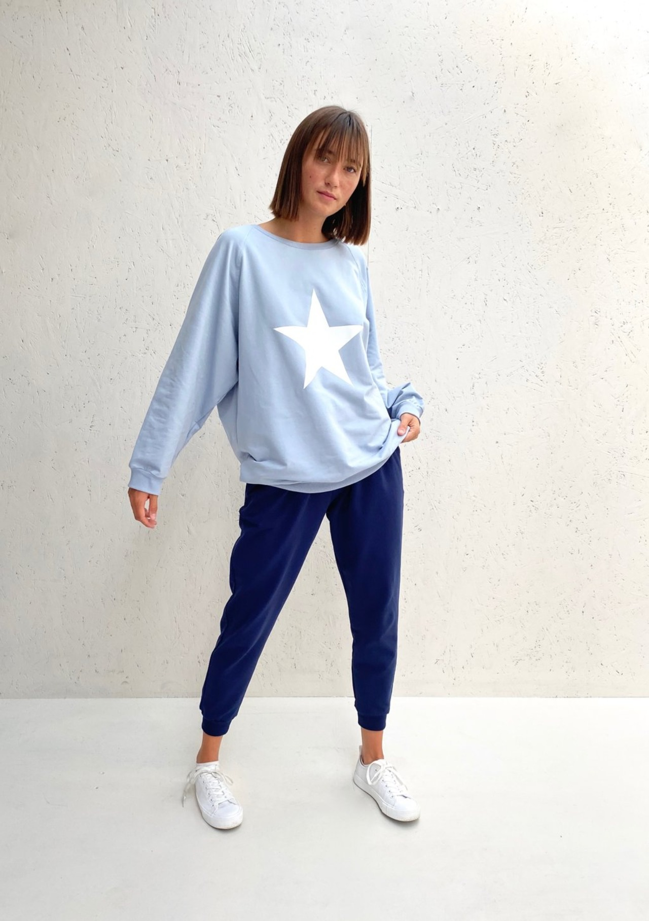 Chalk Nancy star print sweatshirt