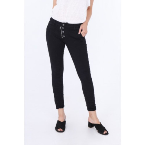 Melly & co black button/zip front jeans