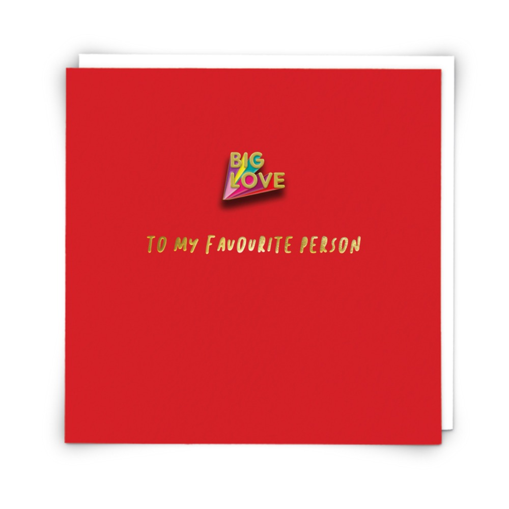 Big Love card with pin