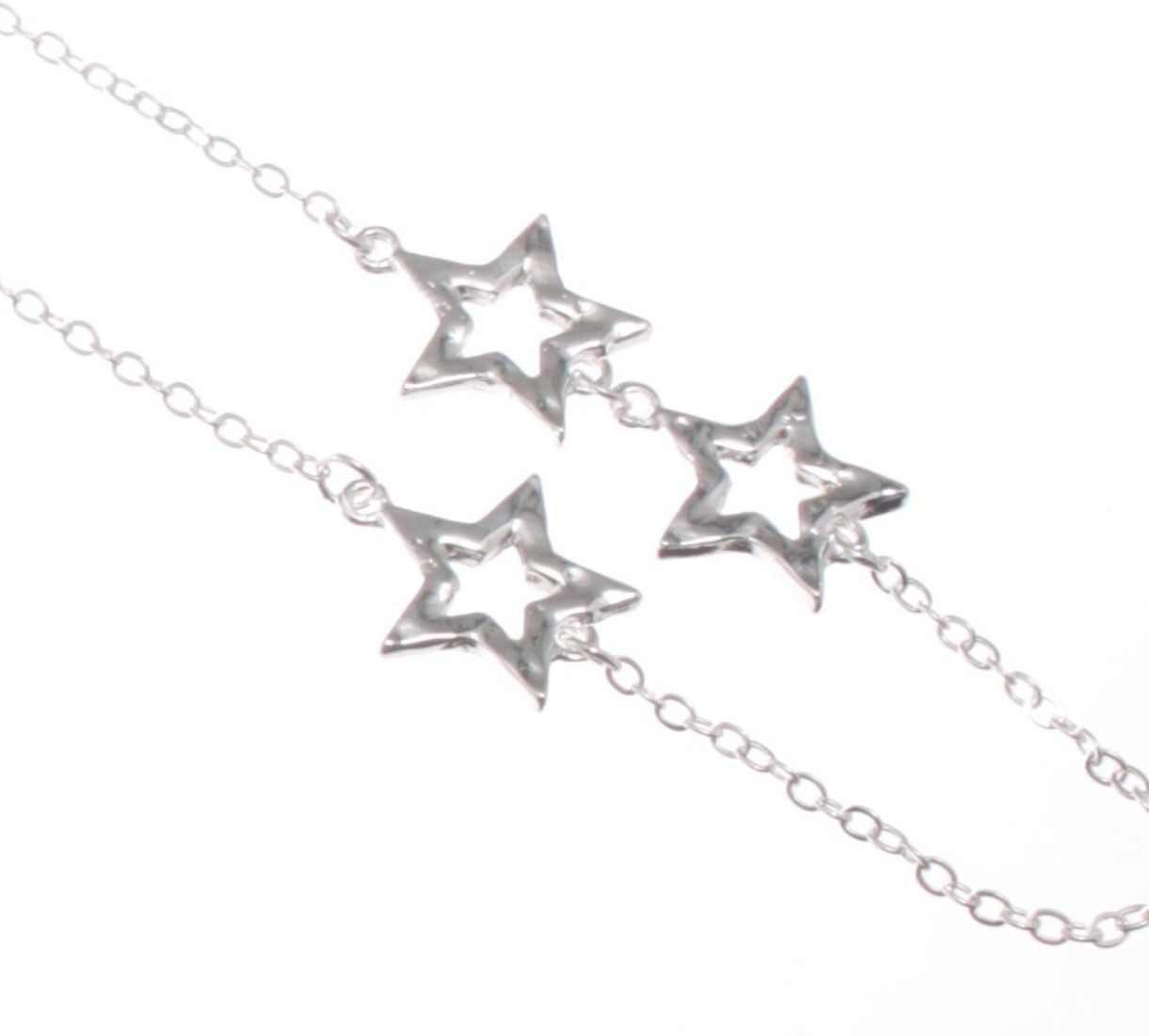 Cascading stars long necklace