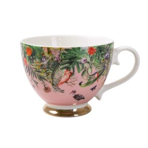 Chinoiserie footed mug