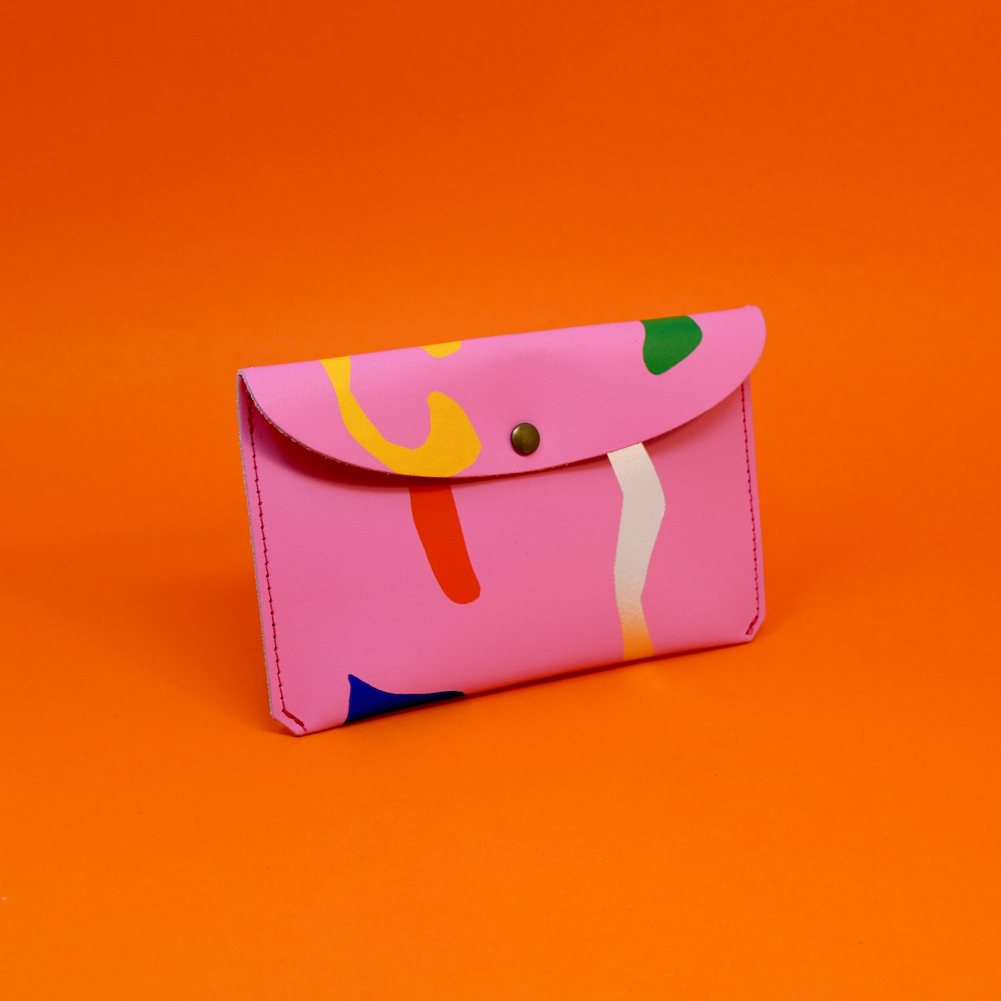 Abstract large purse - Hot pink