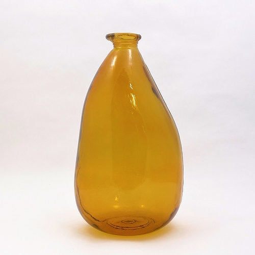 36cm Recycled Glass Vase - Amber (Collection Only)