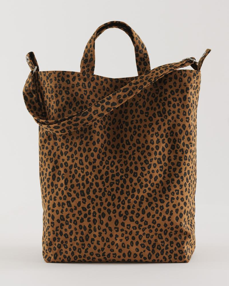 Duck canvas tote - Nutmeg Leopard