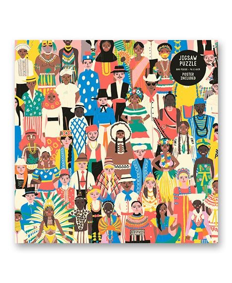 People of the world 500 piece puzzle and poster