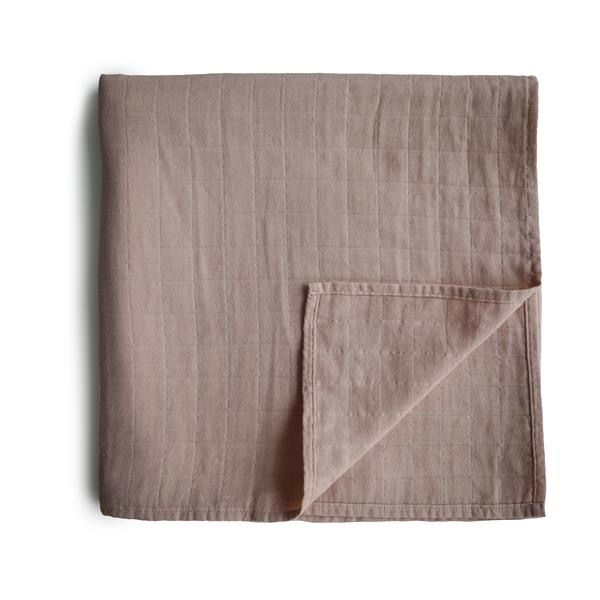 Muslin Swaddle Blanket Organic Cotton (Pale Taupe)