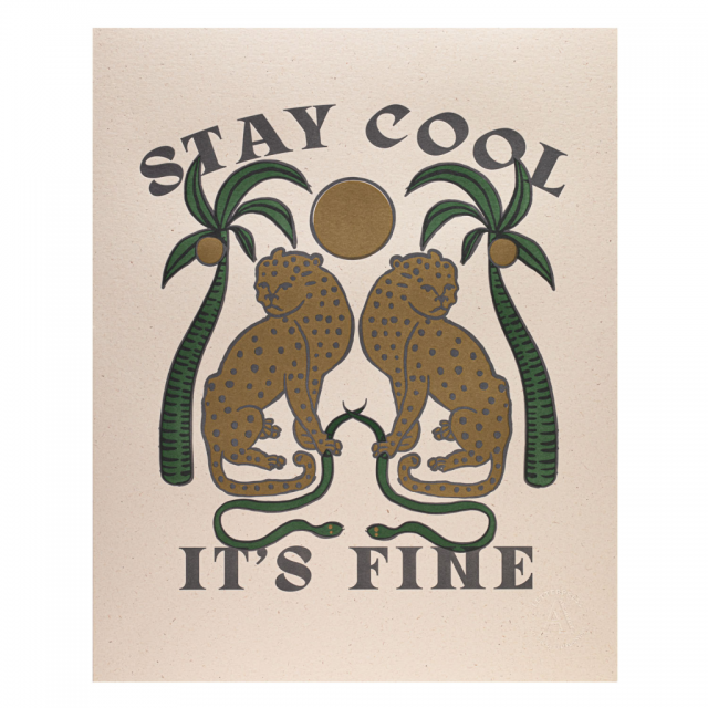 Stay Cool Framed Print - Collection Only