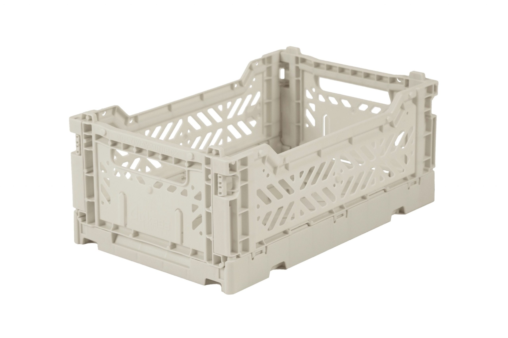 Mini Folding Crate - Light Grey