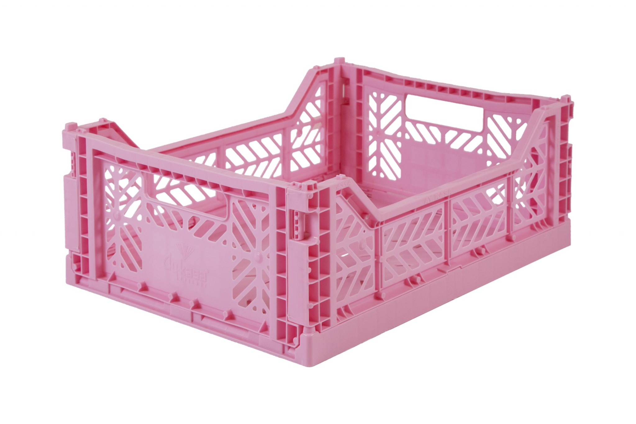 Midi Folding Crate -  Baby Pink
