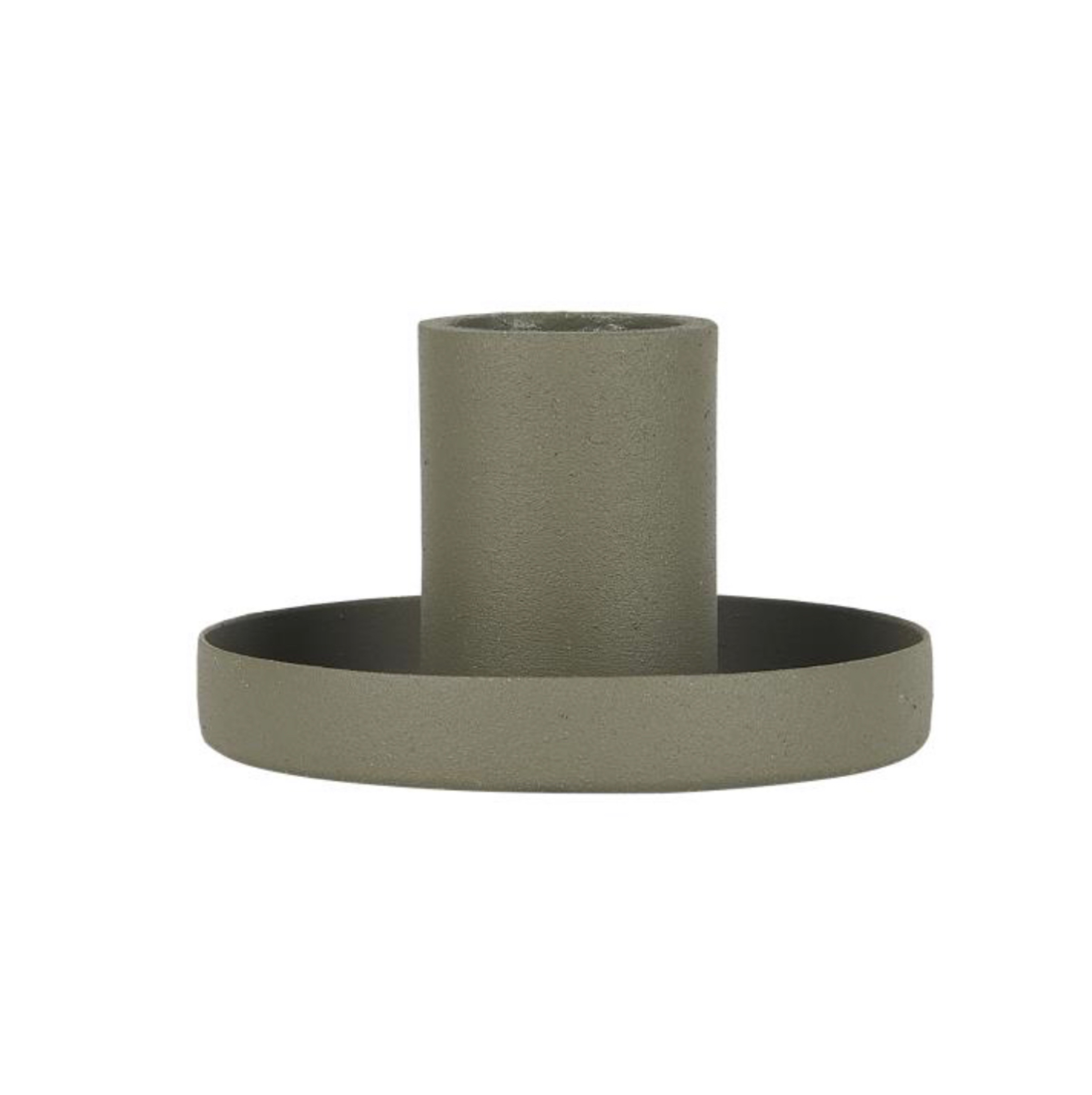 Candle holder f/dinner candle dusty green
