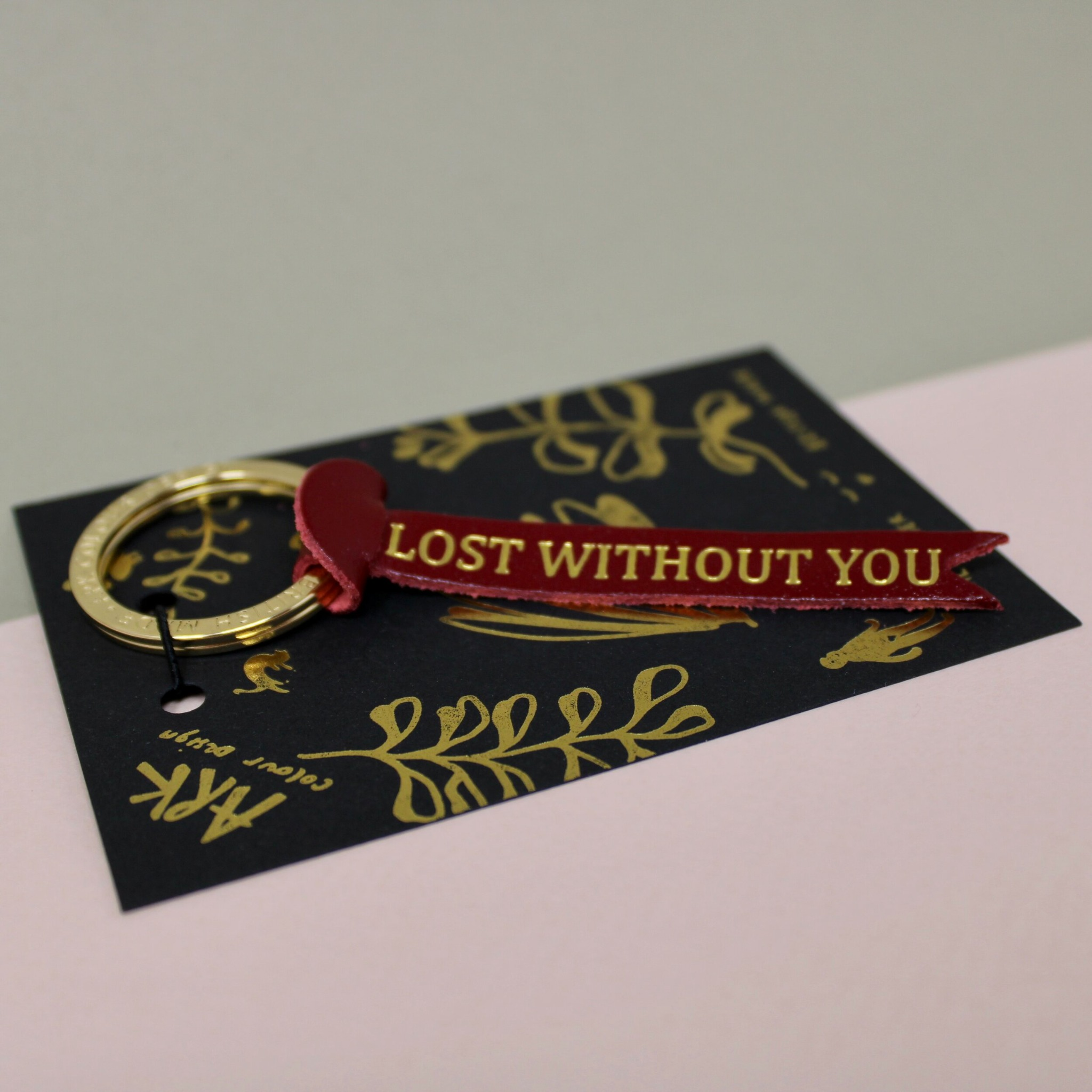 Lost without you keyring - Red