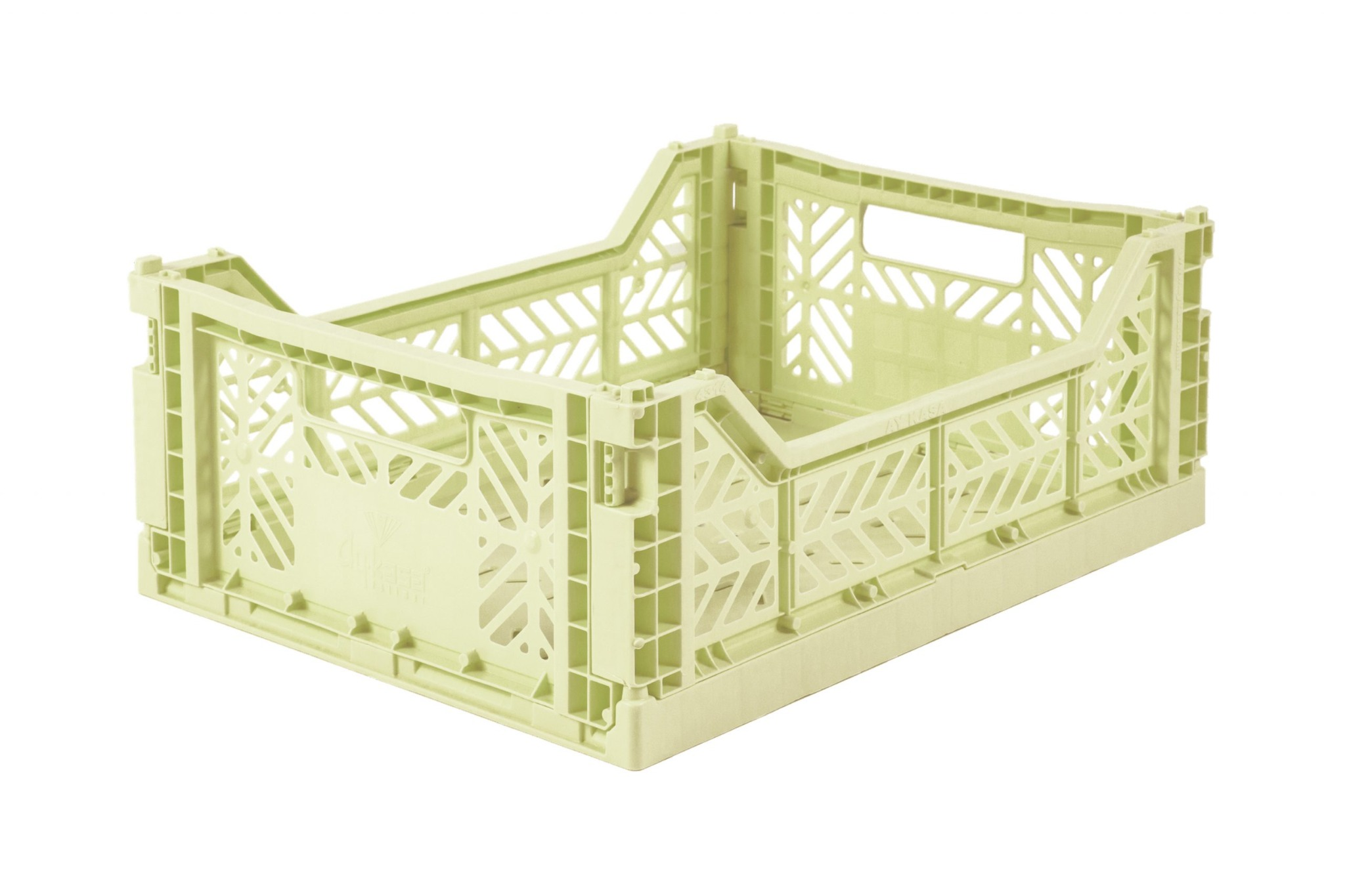 Midi Folding Crate -  Lime cream