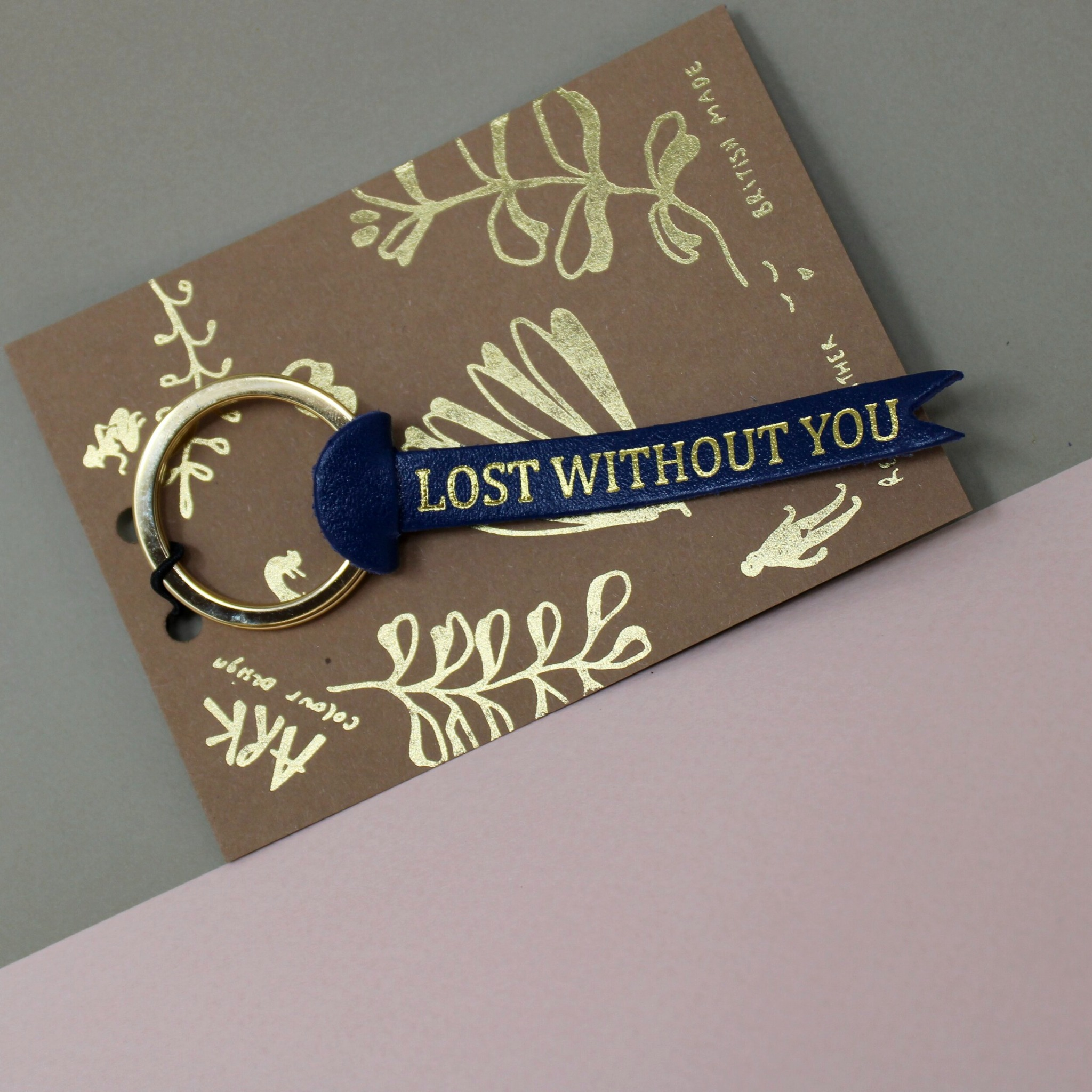 Lost without you keyring - Blue