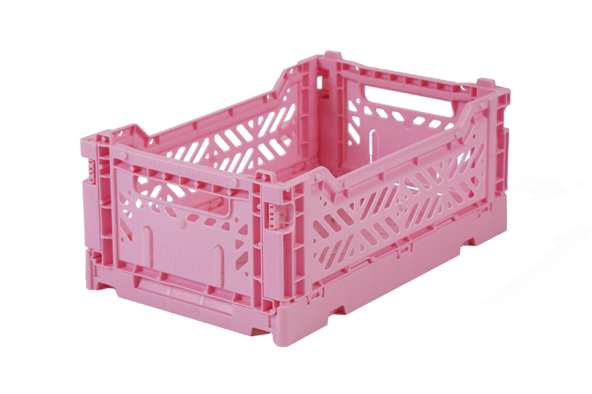 Mini Folding Crate - Baby Pink