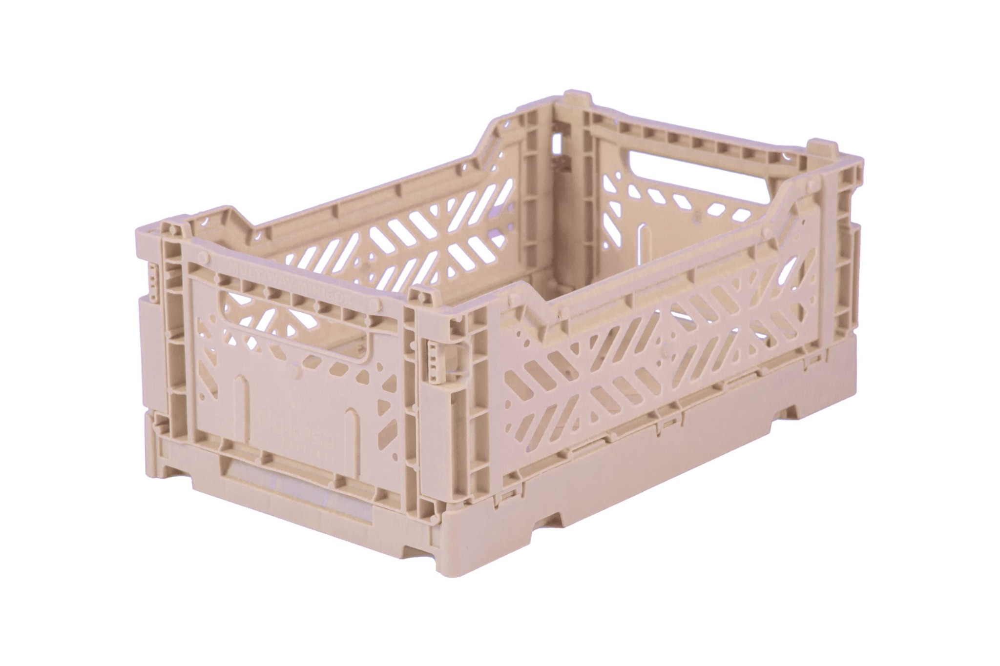 Mini Folding Crate - Milk Tea