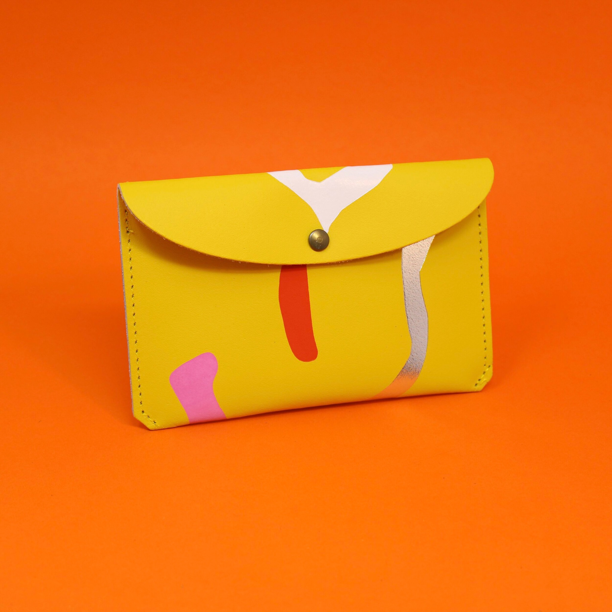 Abstract large purse - Yellow