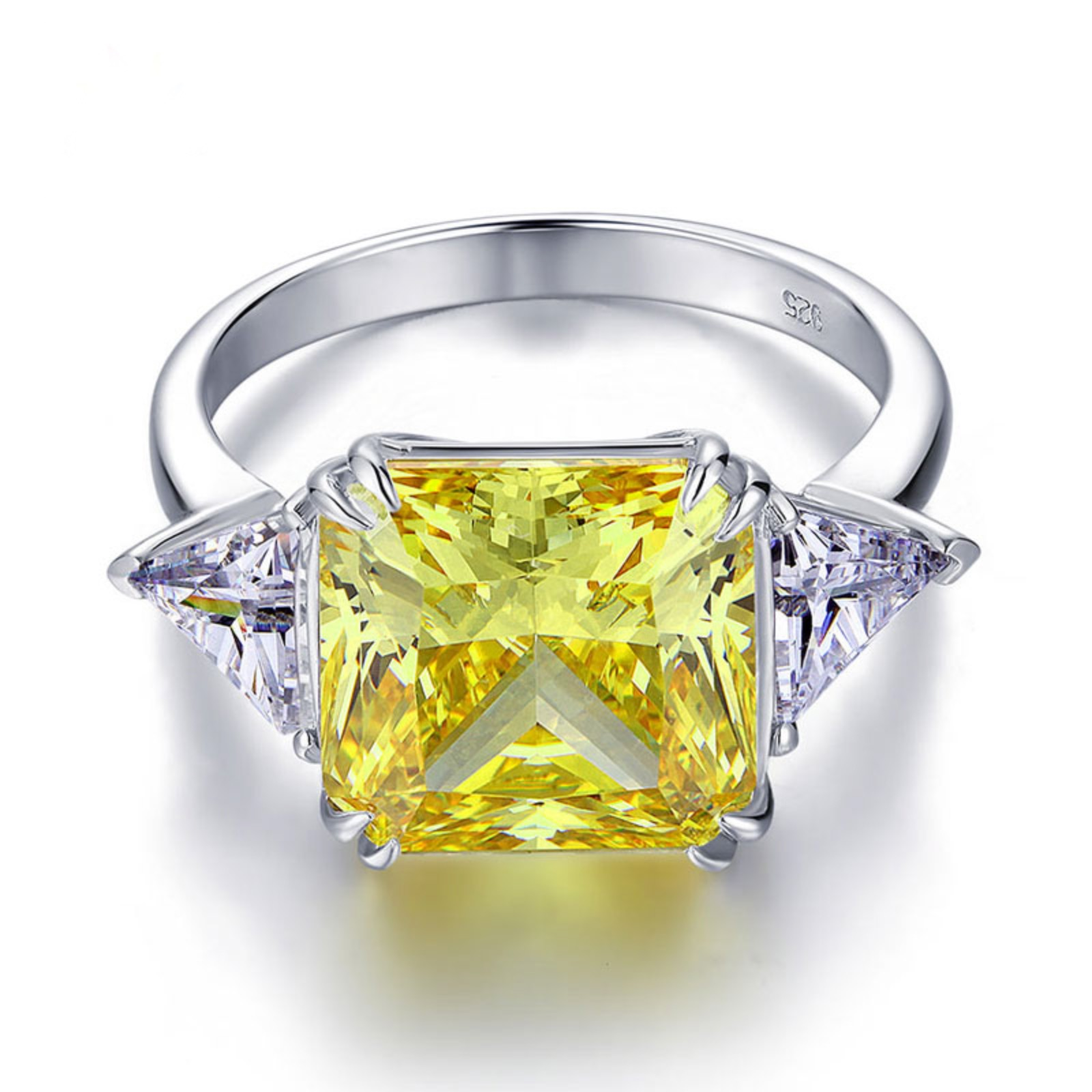 Yellow cubic ring