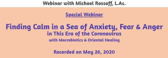 Finding Calm in a Sea of Anxiety, Fear & Anger in This Era of the Coronavirus--7 Day Rental