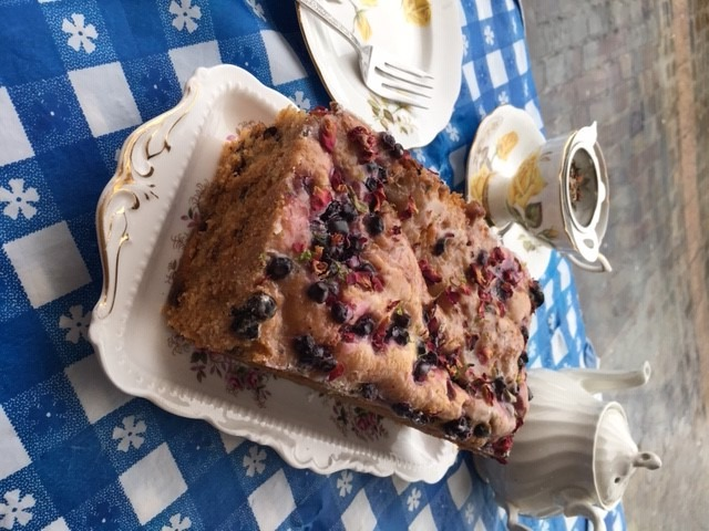 Lime and Blueberry Loaf Cake.