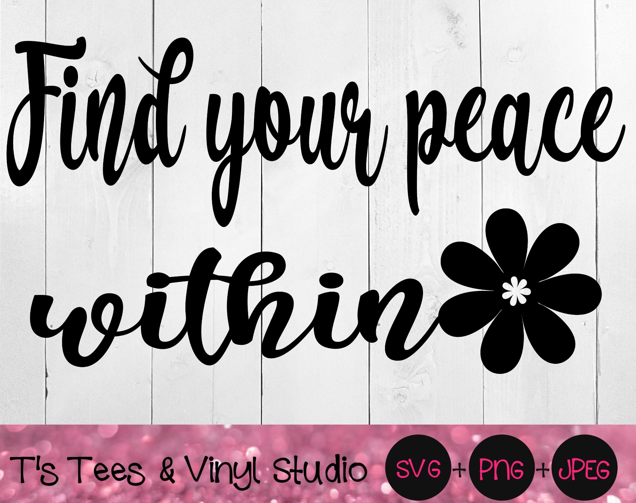 Peace Svg, Serenity Png, Find Your Peace Within Svg, Love Yourself, Relaxation, Peace Png, Serenity