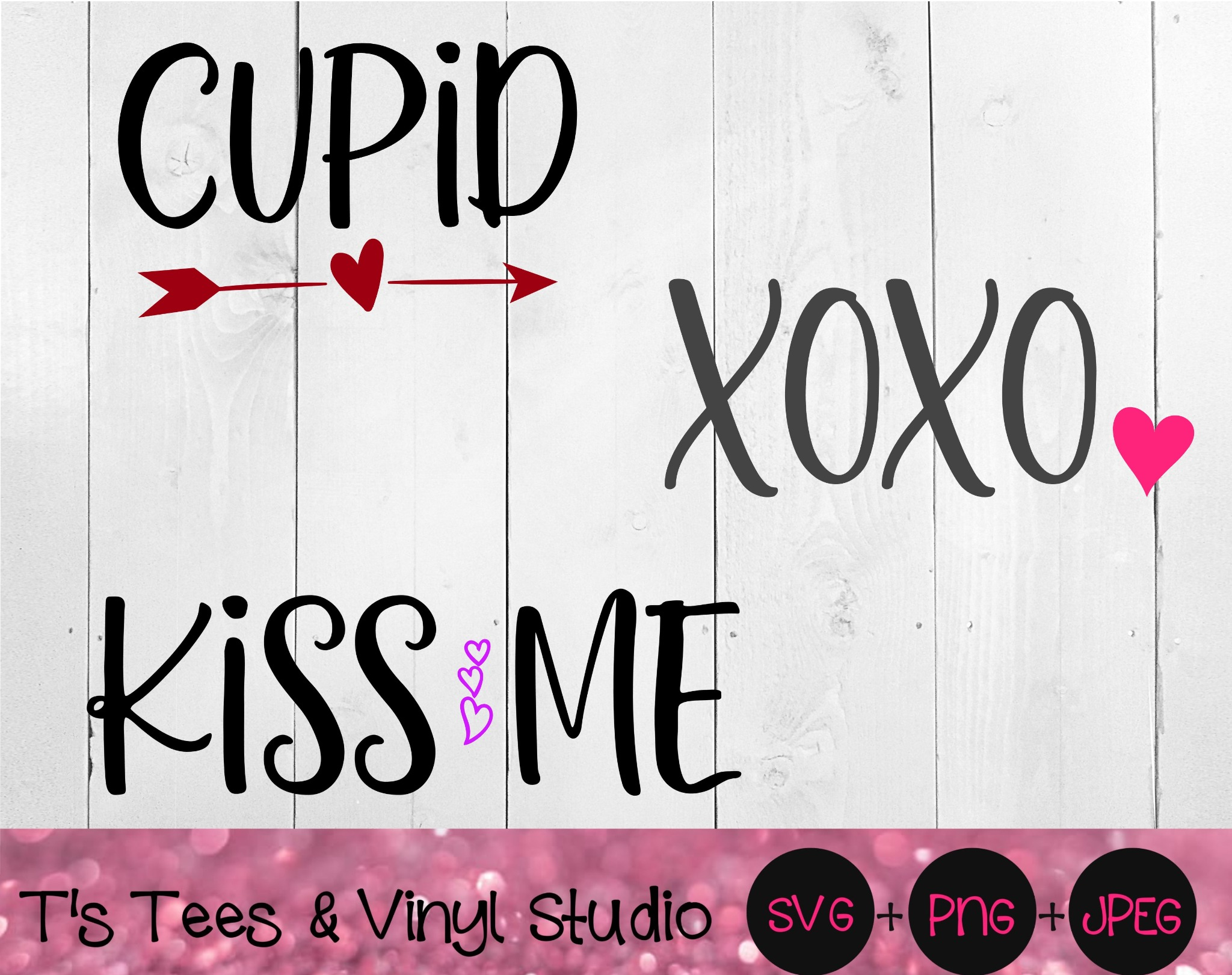 Valentine's Day, Cupid Svg, XOXO Png, Kiss Me, Perfect For Wood Block Signs, Happy Valentine's, Love