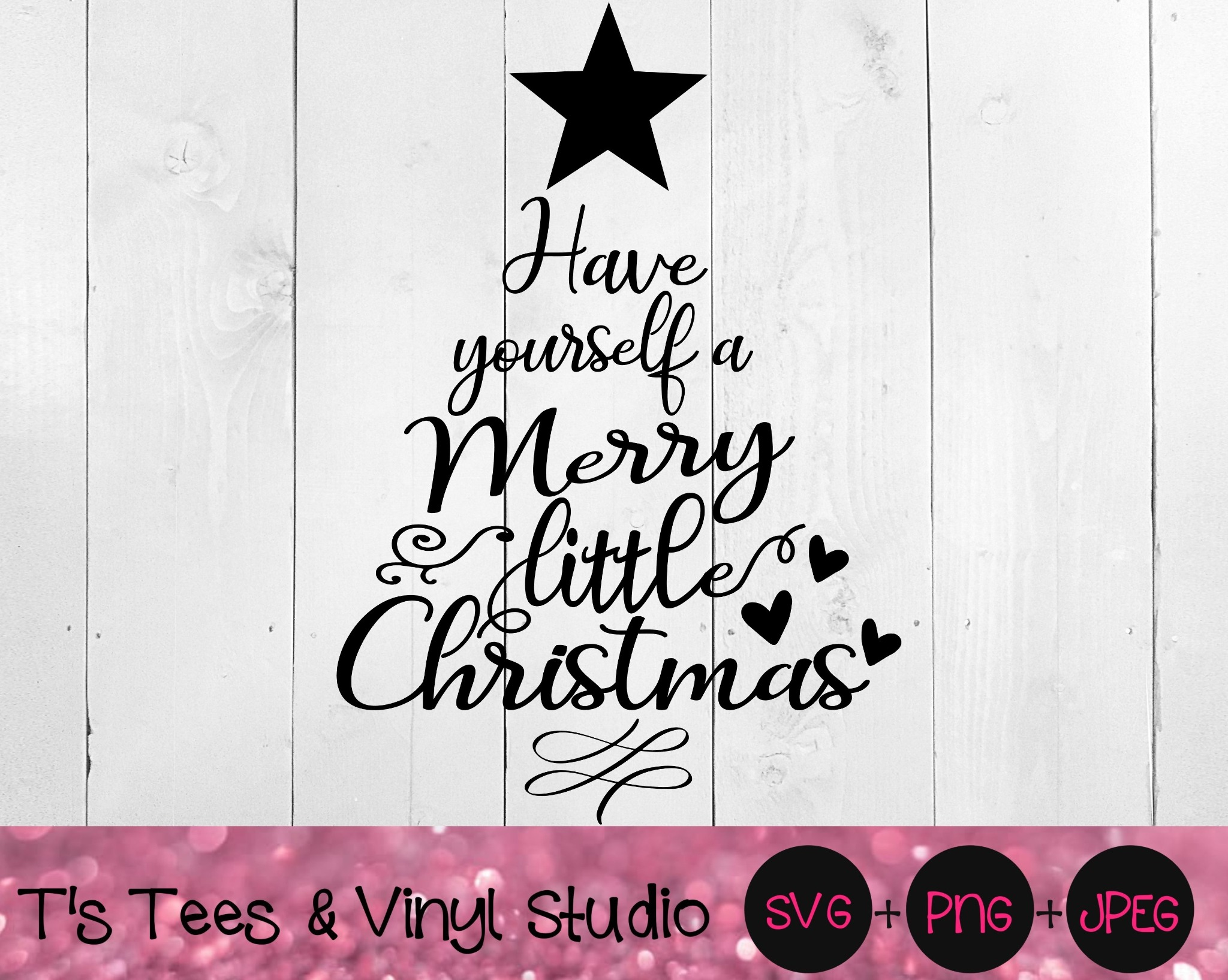 Christmas Svg, Merry Christmas, Christmas Tree, Have Yourself A Merry Little Christmas, Holiday Chee