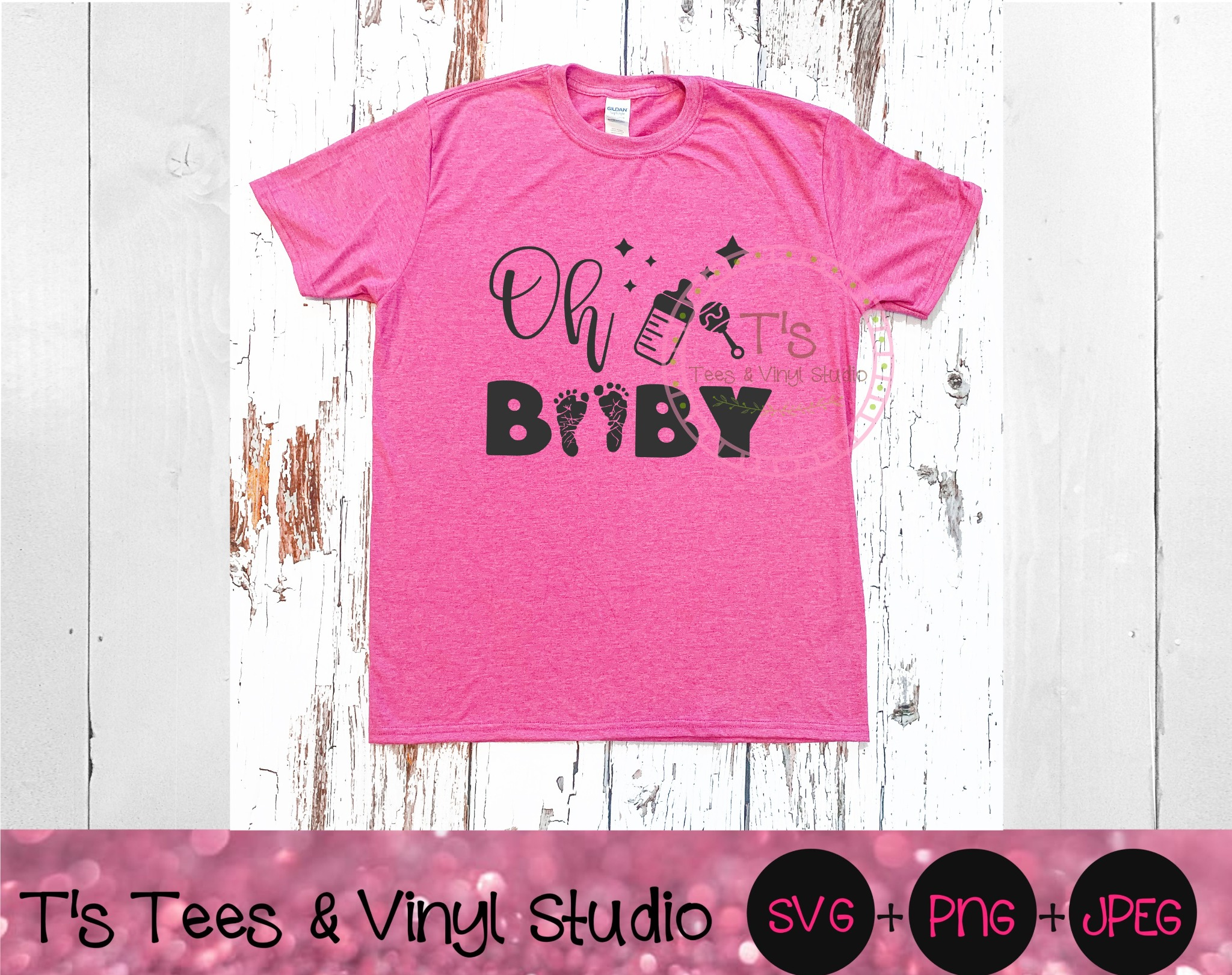 Oh Baby SVG, Pregnancy Announcement, Baby On Board, Baby Feet, Baby Toes, Footprints, Pregnant Belly