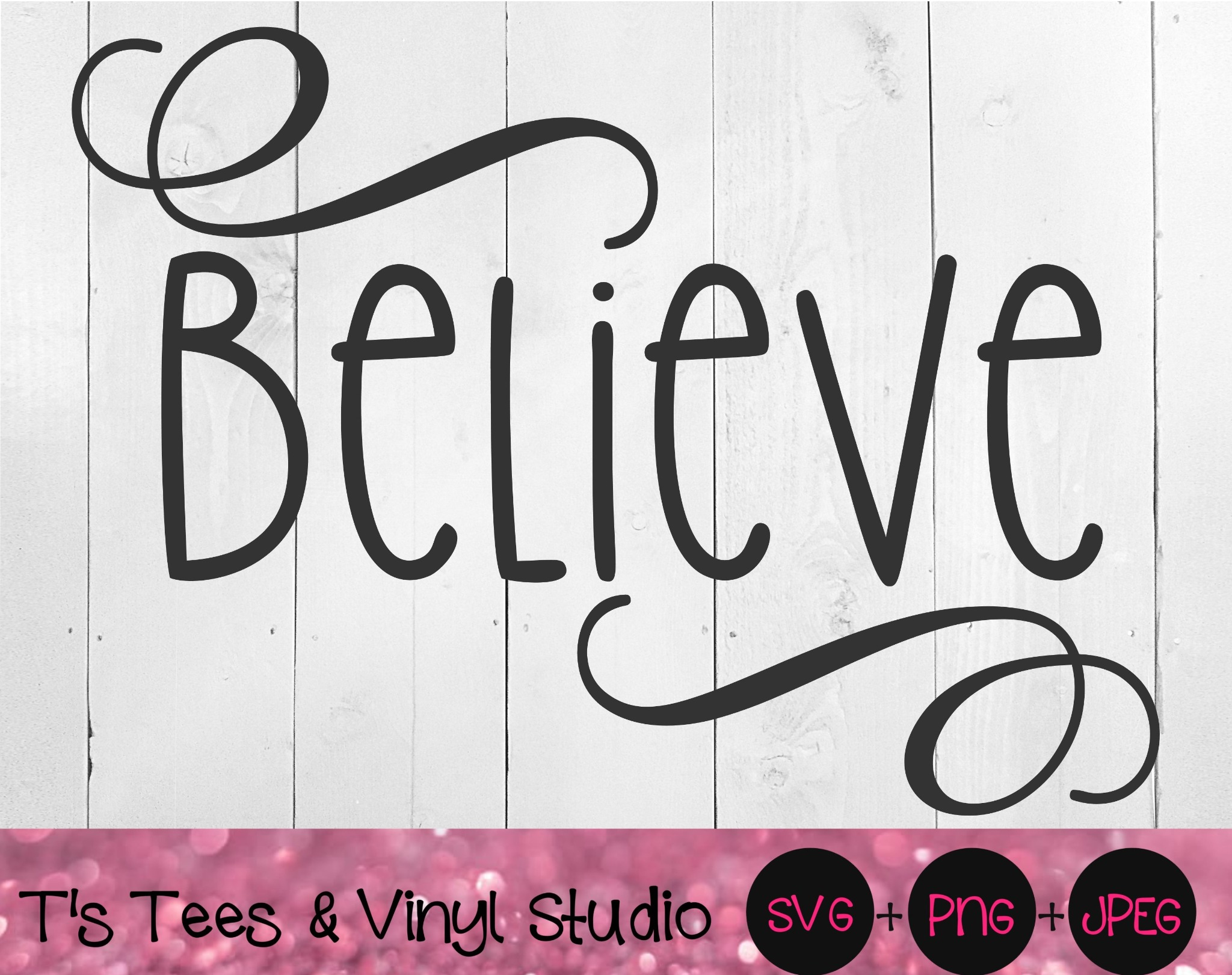 Believe Svg, Christmas Cut File, Merry Christmas, Holiday Cheer, Christmastime, Digital Download, Ch