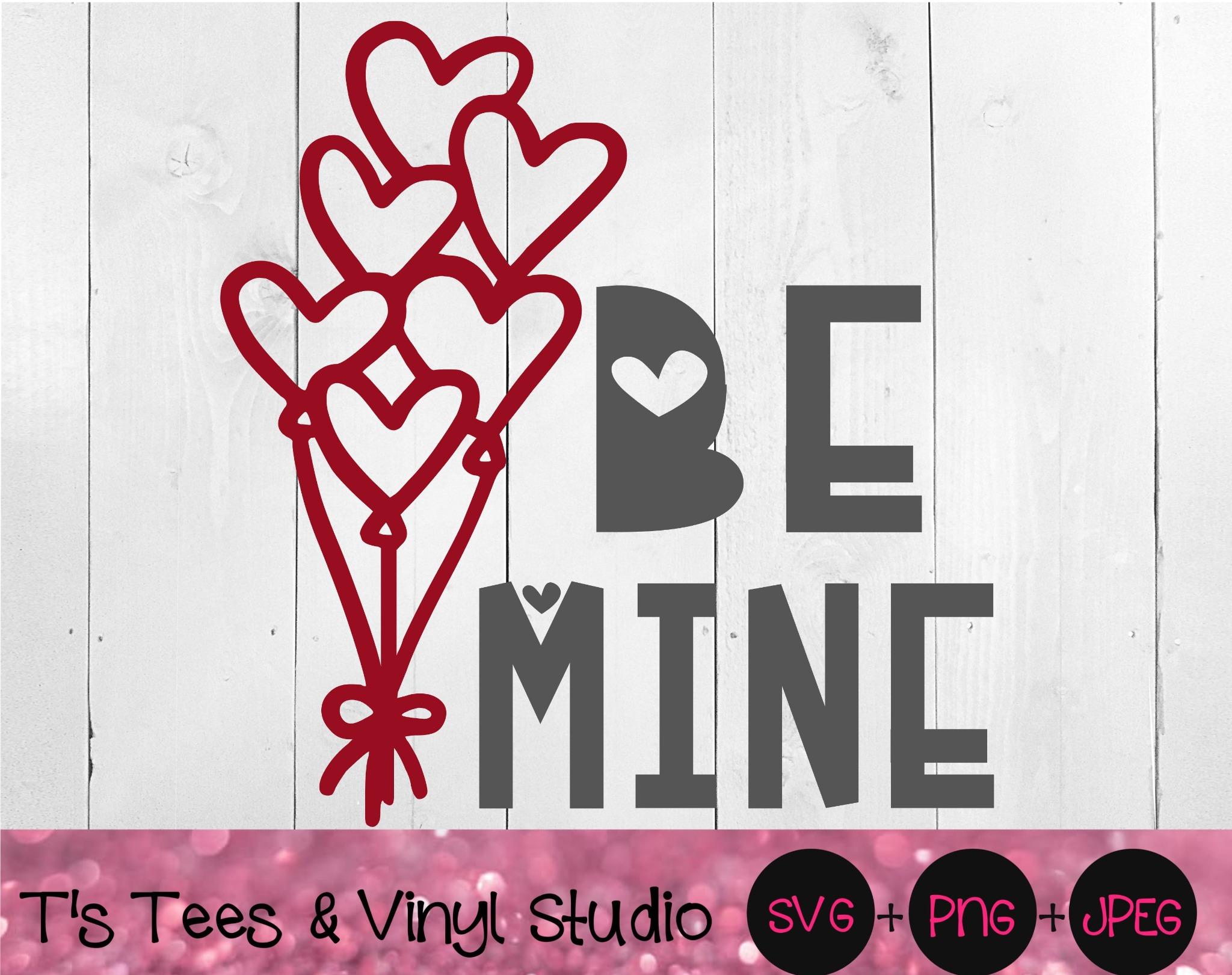 Be Mine Svg, Valentine's Day, Be My Valentine, Romantic Png, Romance Svg, Hearts, Heart Balloons, In