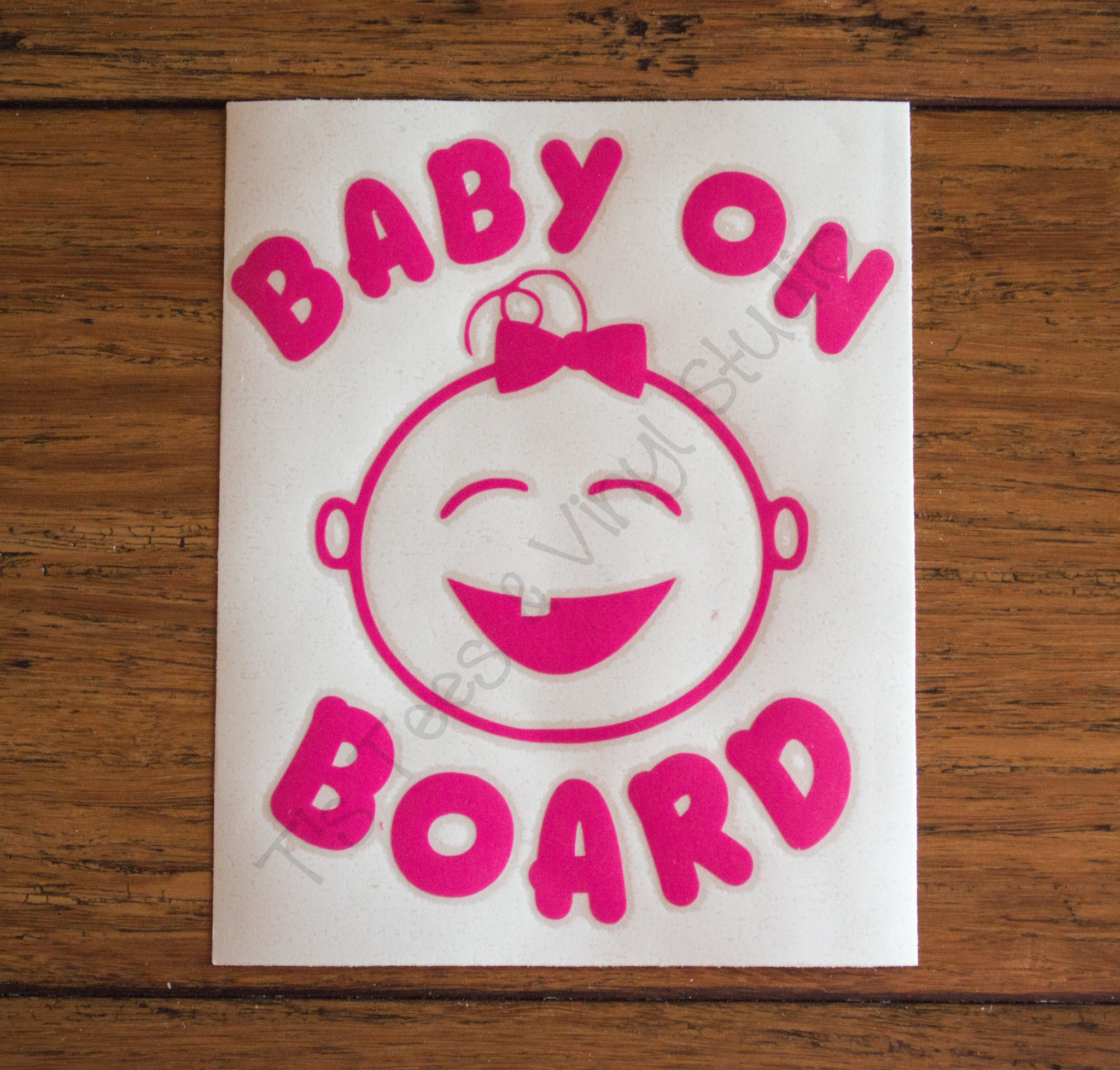 Blue Or Pink Baby On Board Car Decal