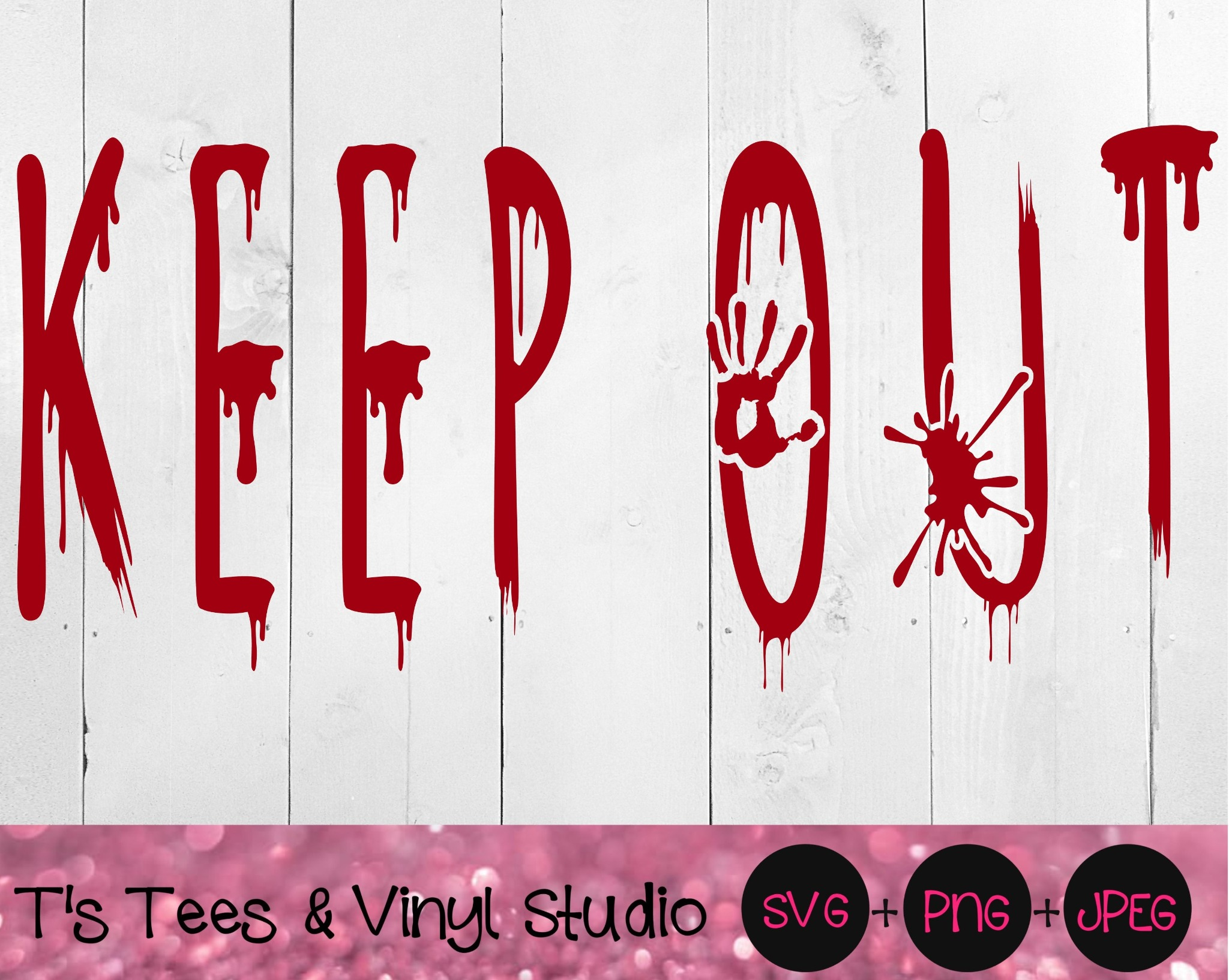 Keep Out Svg, Go Away, Halloween Svg, Horror Svg, Creepy Scary Cut File, Haunted House, Graveyard, H
